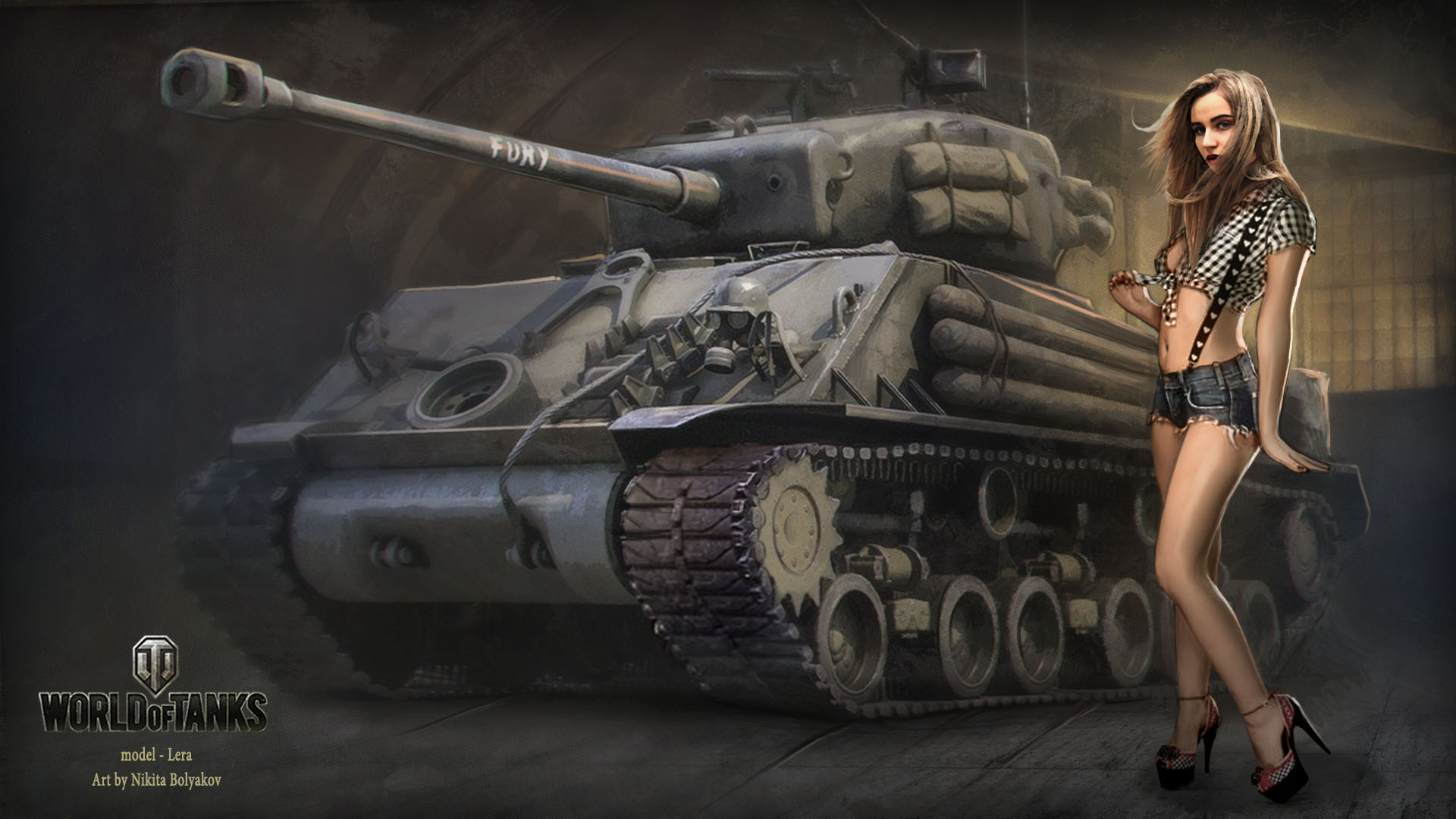 Фото девушка на танке 17 фотография