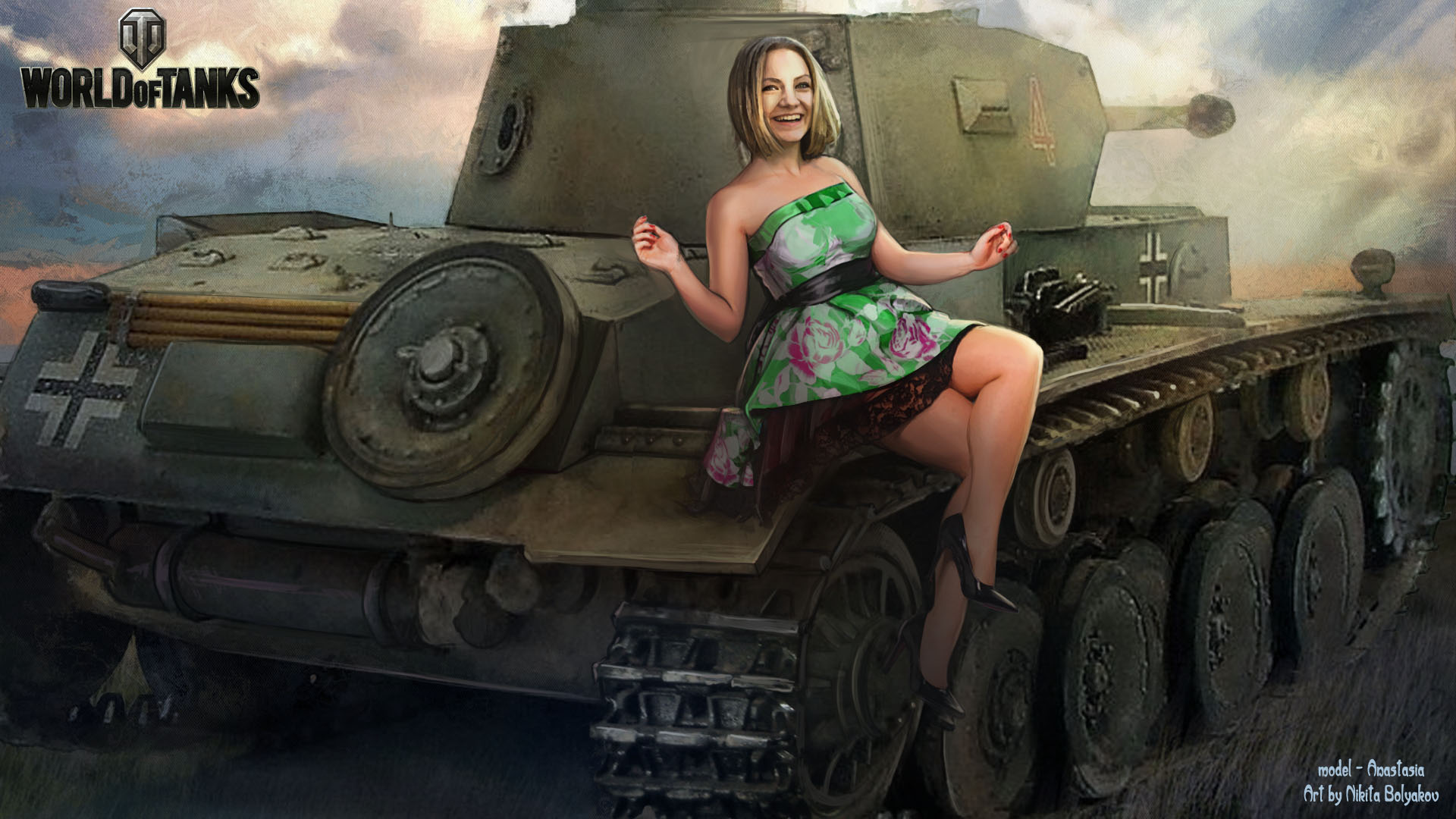 Фото девушка на танке 1 фотография