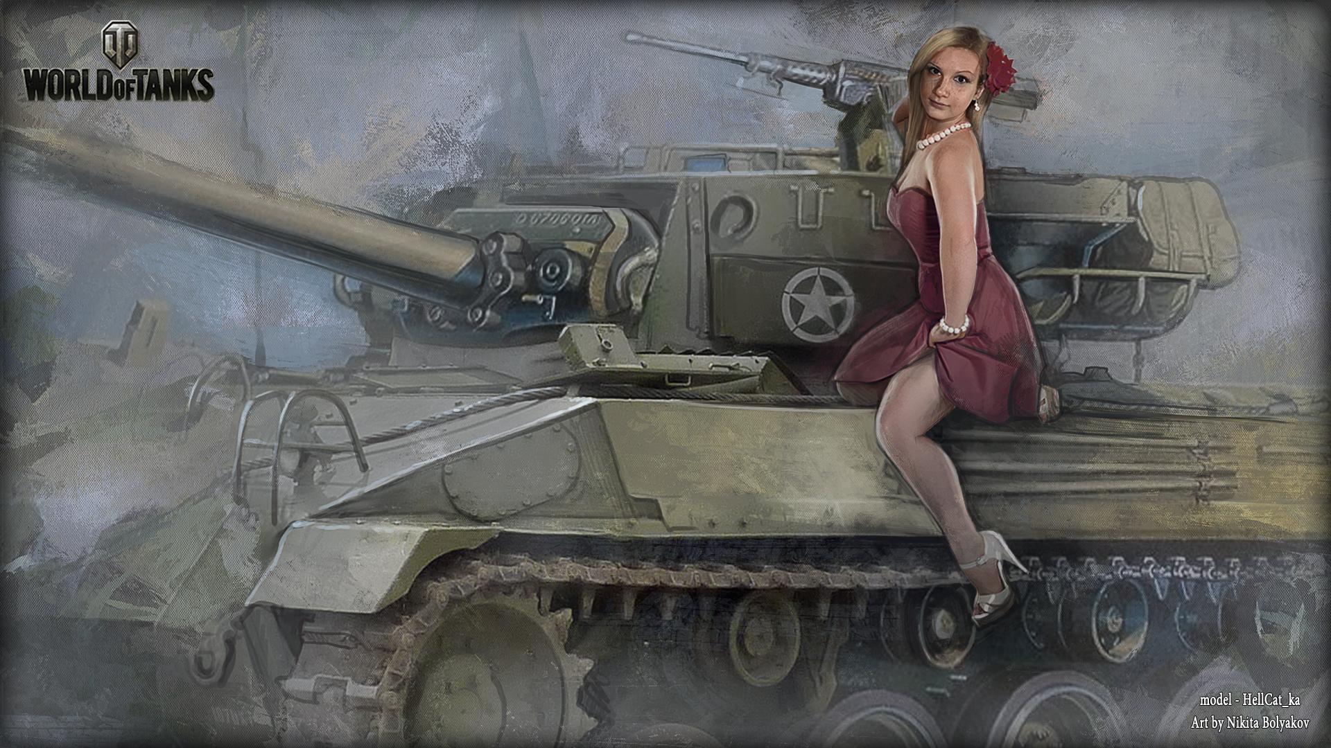 Фото девушки на танке 21 фотография